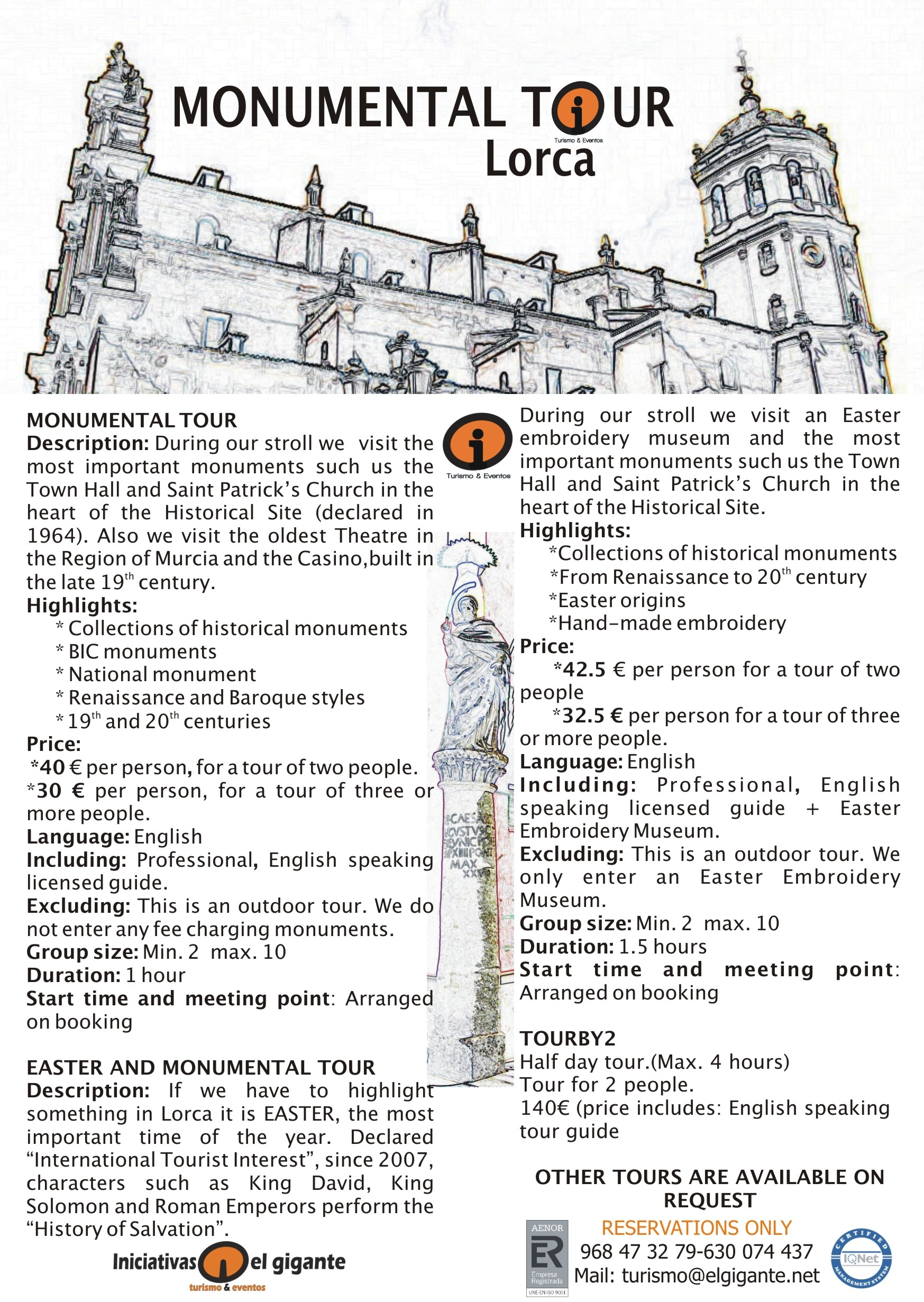ENGLISH LORCA MONUMENTAL TOURS POSTER