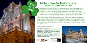 Celebra el día de San Patricio en Lorca